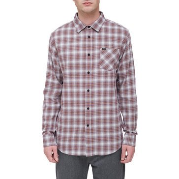 Obey Men's Woven Langston Long Sleeve Mini Check Flannel Shirt