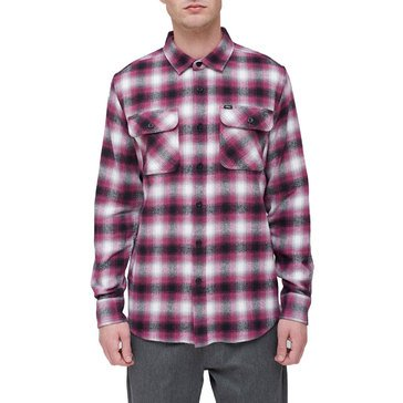Obey Men's Missions Long Sleeve Plaid Flannel Shirt