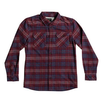 Quiksilver Big Boys' Fitzspeere Flannel, Red