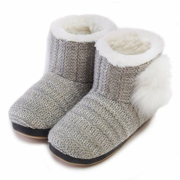 Kensie Shimmer Knit Booties Gray