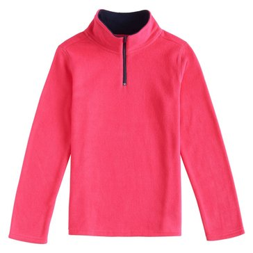 French Toast Toddler Girls' 1/4 Zip Micro Fleece Top, Fuchsia