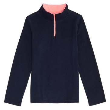 French Toast Toddler Girls' 1/4 Zip Micro Fleece Top, Navy