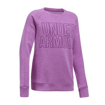 Under Armour Big Girls' Favorite Fleece, Purple