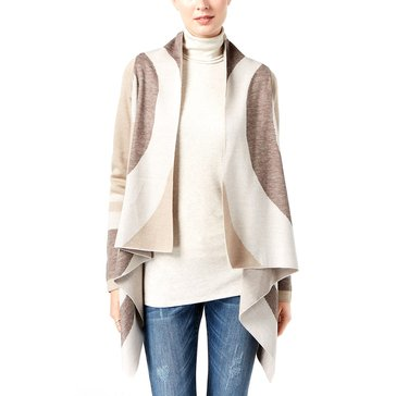 I.N.C. International Concepts Women's Colorblock Completer Sweater in Heather Oats