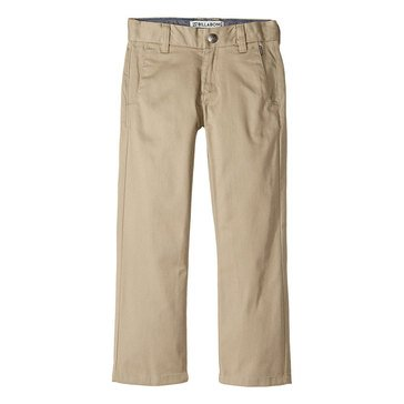 Billabong Little Boys' Carter Stretch Pants, Beige