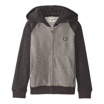 Billabong Little Boys' Balance Zip Hoodie, Black