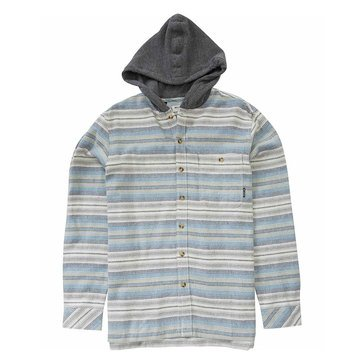 Billabong Big Boys' Baja Hooded Flannel, Grey