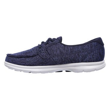Skechers Go Step Shore Escape Women's Boat Sneaker Navy Jersey