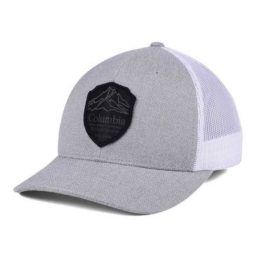 Columbia Men's Snap Back Hat with Mountain Badge in Grey Heather