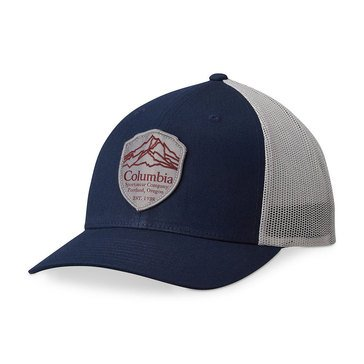 Columbia Men's snap Back Hat with Mountain Badge in Navy