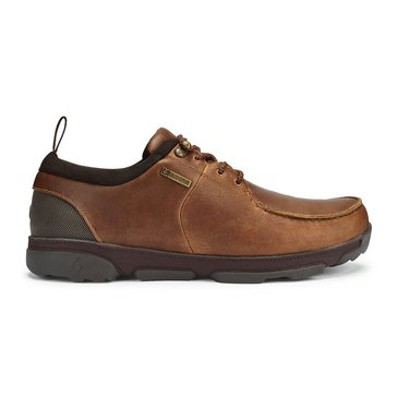 Olukai Men's Makoa Waterproof Lace Up Fox/Dark Wood