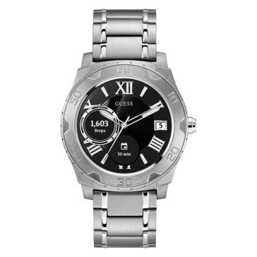 Guess Unisex Connect Silver Smartwatch, 44mm