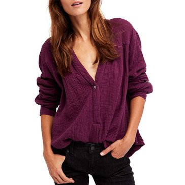 Free People Changing Horizons Pullover in Purple