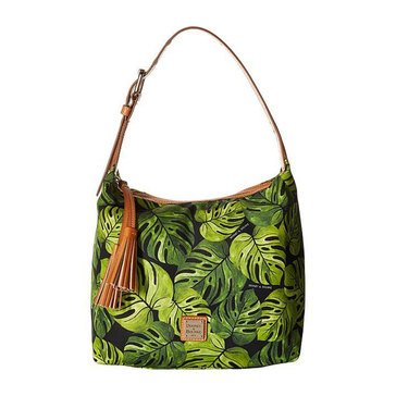 Dooney & Bourke Banana Leaf Print Nylon Paige Sac Black