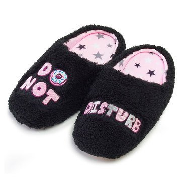 PJ Couture Teddy Vebiage Slipper Donut