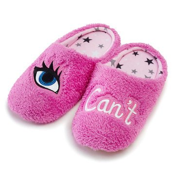 PJ Couture Women's Teddy Verbiage Slippers