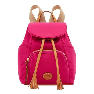 Dooney & Bourke Solid Nylon Medium Backpack Fuchsia