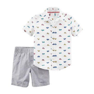 Carter's Baby Boys' 2-Piece Shorts Set, Vehicles