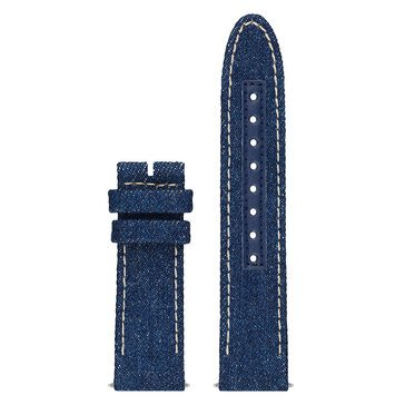 Guess Connect Smart Watch Strap, Blue Denim Leather