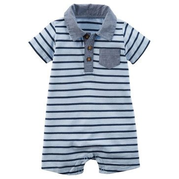 Carter's Baby Boys' Blue Stripe Romper