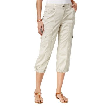 Style & Co Women's WB Bungee Capri Pants in Stonewall