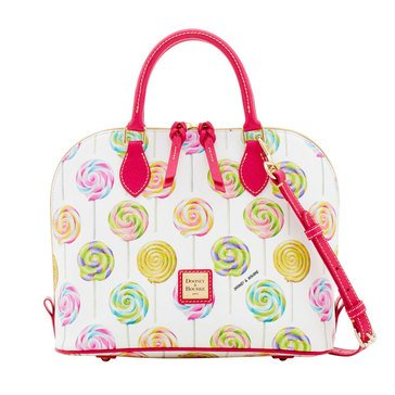 Dooney & Bourke Swirl Zip Satchel White