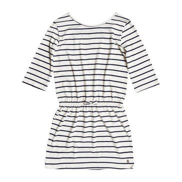 Roxy Big Girls' Lovely Daughters Stripe Knit Dress, Marshmellow
