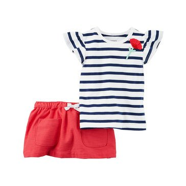 Carter's Baby Girls' 2-Piece Skort Set