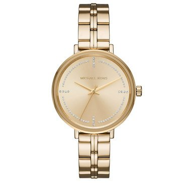 Michael Kors Women's Bridgette Gold Tone  Watch, 38mm