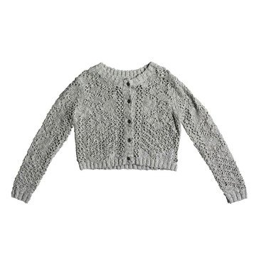 Roxy Big Girls' High Friendship Lightweight Sweater Cardy, Grey