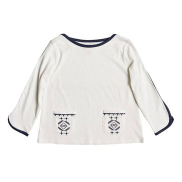 Roxy Big Girls' Flowers Knit Top, Marshmellow