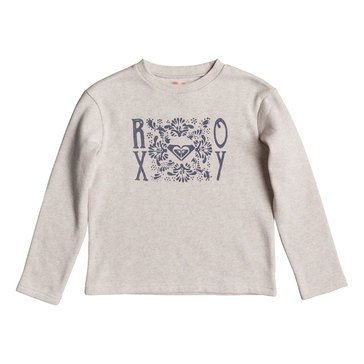 Roxy Big Girls' Any Other Way Crew Fleece, Grey