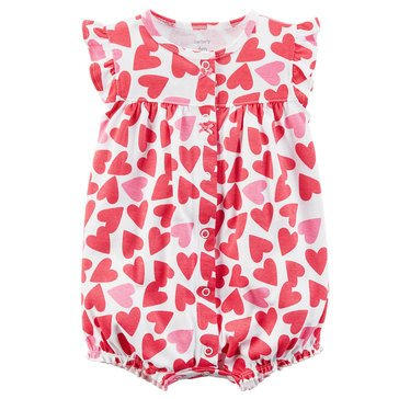 Carter's Baby Girls' Snap Up Romper, Hearts
