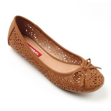 UnionBay Tea Perforated Ballet Flat Tan