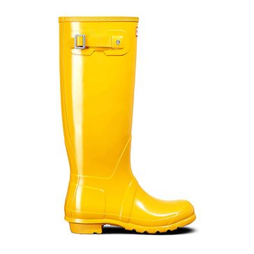 Hunter Boot Women's Tall Gloss Rainboot Yellow