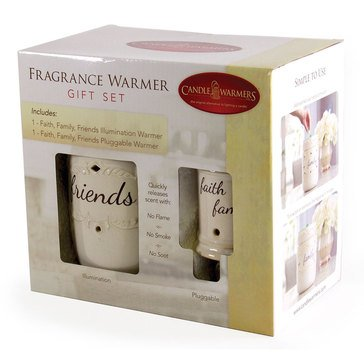 Candle Warmers Faith Family Friends Warmer & Pluggable Giftset