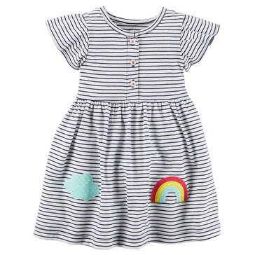 Carter's Baby Girls' 2-Piece Dress Set, Rainbow