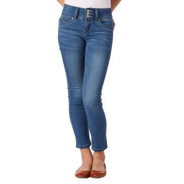 YMI Triple Button Pearl Skinny