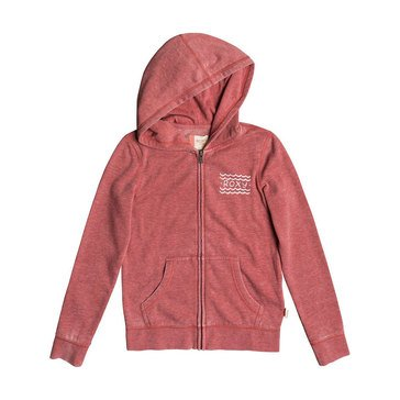Roxy Big Girls' Be The Overflow Hola Zip Hoodie, Dusty Cedar