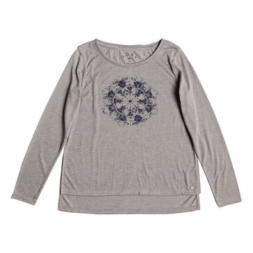 Roxy Big Girls' Dreamy Weather Tee, Grey
