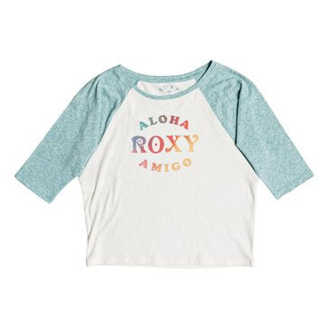 Roxy Big Girls' 3/4 Sleeve Dream Too Much Aloha Tee