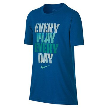Nike Big Boys' Dry Every Play Tee, Blue