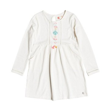 Roxy Little Girls' Cookie Kiss Knit Dress, Marshmellow