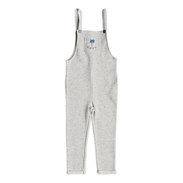 Roxy Little Girls' What You Look Like Fleece Overall, Grey