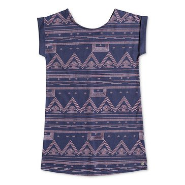 Roxy Little Girls' Moving On Now Print Knit Dress, Aztec Geo