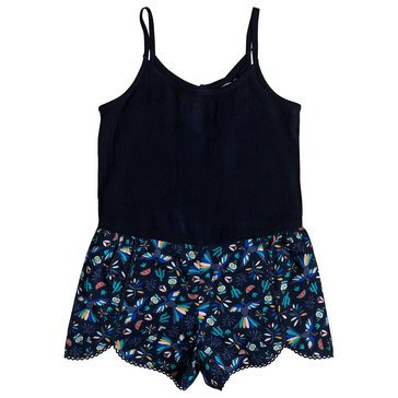 Roxy Little Girls' Play Sea And Fun Knit To Woven Romper