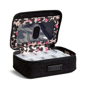 Vera Bradley Iconic Travel Pill Case Black