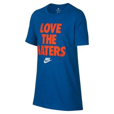 Nike Big Boys' Love The Haters Tee, Blue