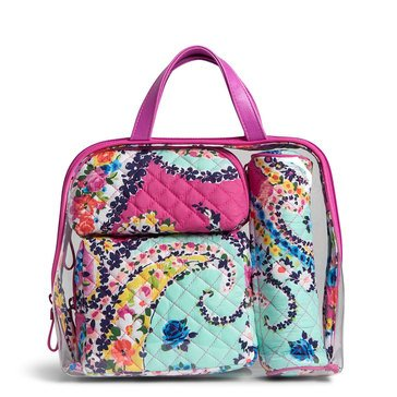 Vera Bradley Iconic 4 Piece Cosmetic Set Wildflower Paisley