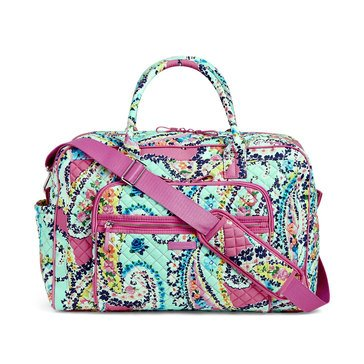 Vera Bradley Iconic Weekender Travel Bag Wildflower Paisley